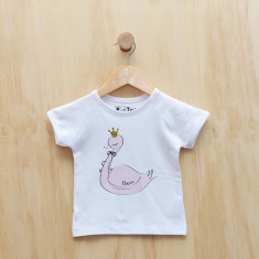 Girls' personalised swan t-shirt
