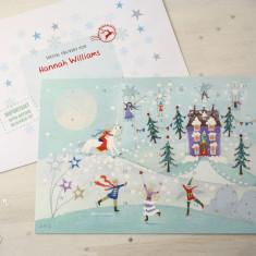 Snow Scene Advent Calendar And Envelope