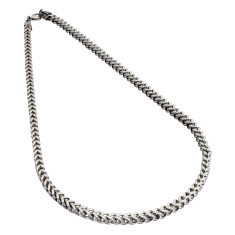 Armour steel necklace chain in silver or black