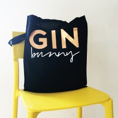 Gin bunny tote bag