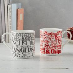 English dinner mug