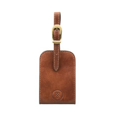 Personalised Ledro Leather Luggage Tag