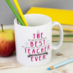 Personalised Best Teacher Ever Secret Message Mug