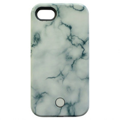 Selfie Light Up Phone Case In Marble