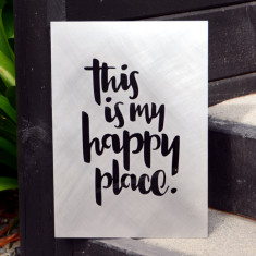 This is my happy place recycled steel garden art for indoors and outdoors