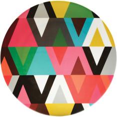 French Bull round platter in viva pattern