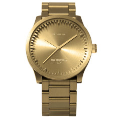 Leff Amsterdam tube watch S38 brass finish