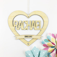 Personalised Heart Name Wall Hanging