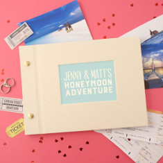 Personalised Typographic Honeymoon Mini Photo Album