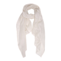 Moye cashmere stole in ivory