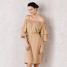 Sevilla Dress In Camel
