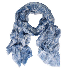 Klein printed cashmere modal scarf (various colours)