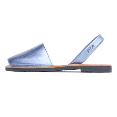 Nova leather sandals in ceramic iris blue