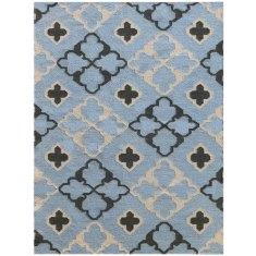 Dusty Blue handmade flat weave rug
