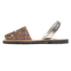 Joan leather glitter sandals in confetti