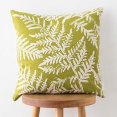 Bracken & Gold Dust Wattle cushion cover