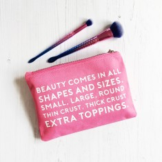 Shapes and sizes makeup bag