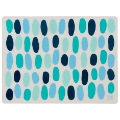 Silicone placemats in peacock bubbles (set of 4)