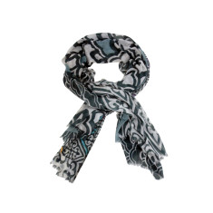 Multi-tonal cotton scarf