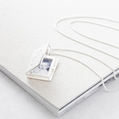 Personalised Silver Photo Book Locket