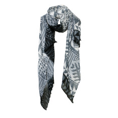 Aztec black night scarf