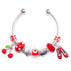 Red charm bangle