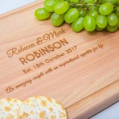 Personalised Chunky Wooden Chopping Board