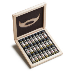 Beard Oil Wooden 24 Sampler Gift Box Set​