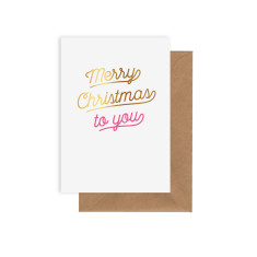 Merry Christmas pack of 8 cards