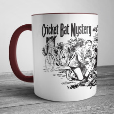Retro Illustration Mug Cricket Bat Mystery