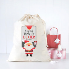 Santa's sign personalised Santa sack