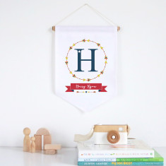 Arrows wreath personalised pennant wall banner