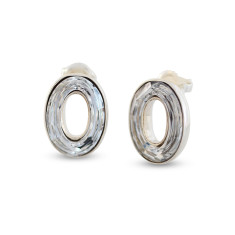 Atrium Swarovski Hollow Oval Stud Earrings