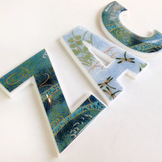 Personalised boys' decor letters (price per letter)