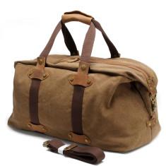 Brown Canvas Weekend Duffle Bag