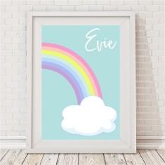Pastel Rainbow Name Print