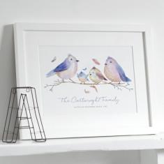 Personalised Bird Family Print
