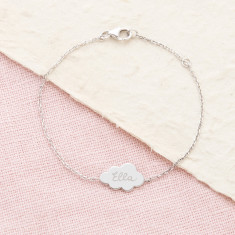 Personalised Cloud Chain Bracelet
