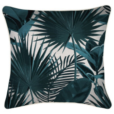 Outdoor Cushion Cover-Flourish Teal (various sizes)