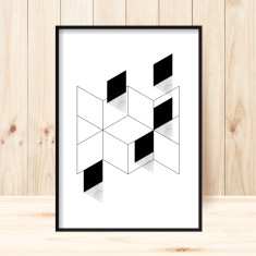 Marble squared 2 art print (various sizes)