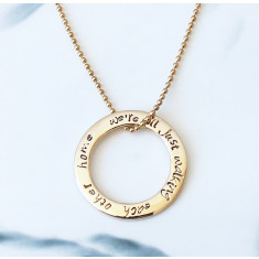 Personalised circle of love 9k gold necklace