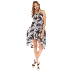 Palm Dress Black/White