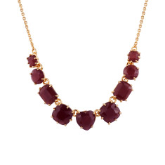 Nine Stones Necklace - Purple Diamantine