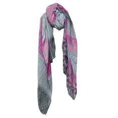 Aztec midnight bloom scarf