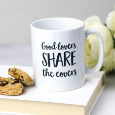 Good Lovers Share The Covers Mug