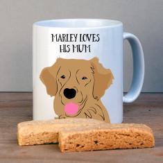 Personalised Golden Retriever Gift Mug