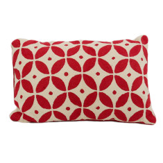 Handmade kashmir wool cushion cover in diamond (red or green)
