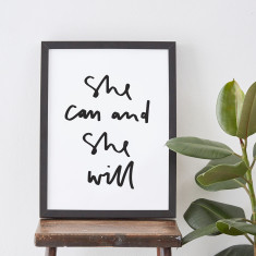 She can and she will quote print