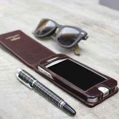 Personalised Renato Leather iPhone Flip Case