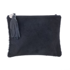 Jem Black Leather Clutch